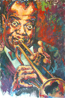 Trumpet Painting - Louis Armstrong by Tachi Pintor