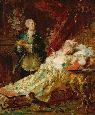 Ape Painting - Louis Xv And Madame Dubarry by  Gyula Benczur