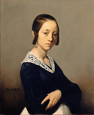 Jean Francois Millet Painting - Louise-antoinette Feuardent by Jean Francois Millet