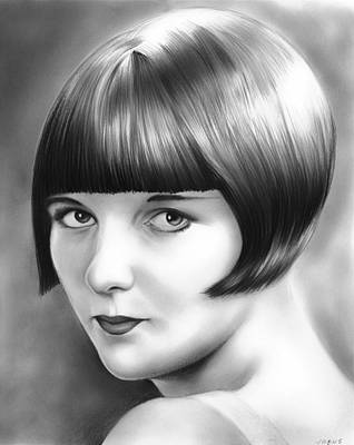 Brooks Drawing - Louise Brooks by Greg Joens