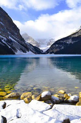 Banff Canada Photograph - Louise Glacial Waters by Andrea Hazel Ihlefeld