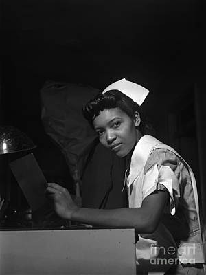 Chicago Painting - Louisiana A Student Nurse by Jack Delano
