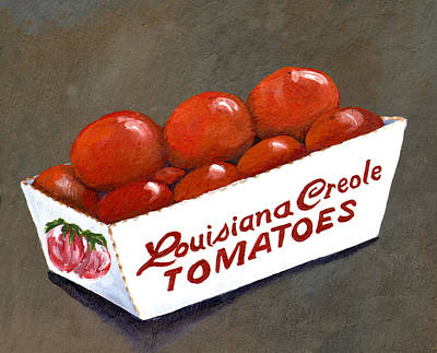 Garden Grown Painting - Louisiana Creole Tomatoes by Elaine Hodges