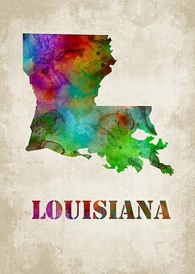 States Digital Art - Louisiana by Mihaela Pater