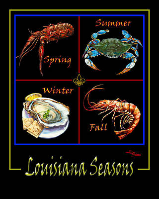 Crawfish Painting - Louisiana Seasons by Dianne Parks