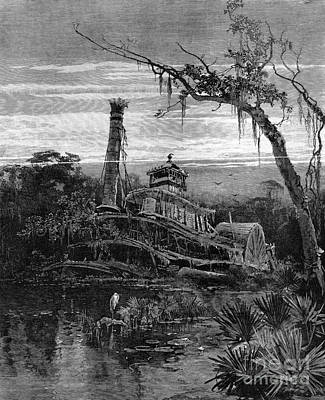 Louisiana: Steamboat Wreck Print by Granger