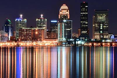 Louisville After Dark Print by Frozen in Time Fine Art Photography