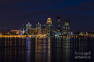 Louisville Skyline Print by Andrea Silies