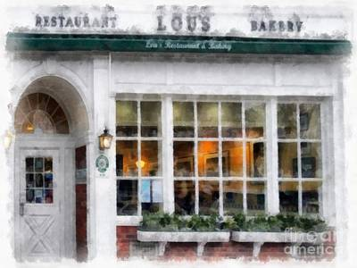 University Of Arizona Digital Art - Lou's Of Hanover New Hampshire by Edward Fielding