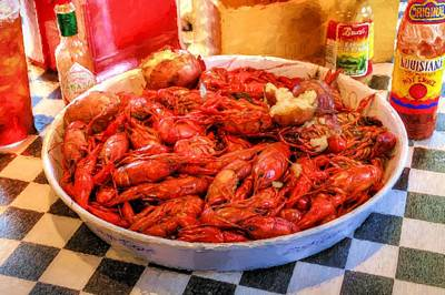 Crawdad Photograph - Lousiana Seafood by JC Findley