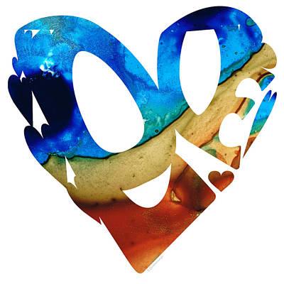 Abstract Hearts Mixed Media - Love 6 - Heart Hearts Valentine's Day by Sharon Cummings