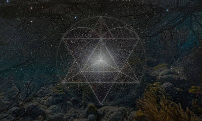 Merkaba Photograph - Love Affair Of Heaven And Earth by Michal Sornat