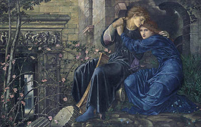 Love Among The Ruins Print by Edward Burne-Jones