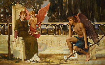 Love And Time Print by John Melhuish Strudwick
