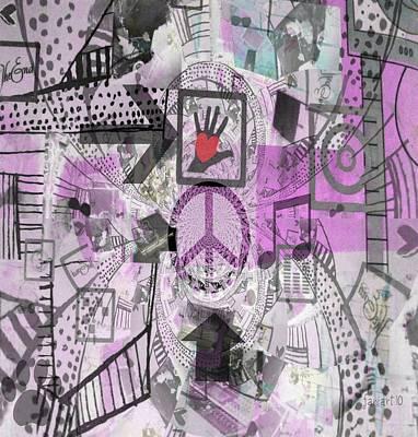 Yesayah Mixed Media - Love Anyway by Fania Simon