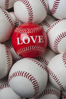 Love Baseball Print by Garry Gay