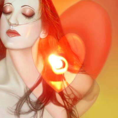 Love Begins Within - Self Portrait  Print by Jaeda DeWalt