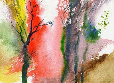 Love Birds 2 Print by Anil Nene