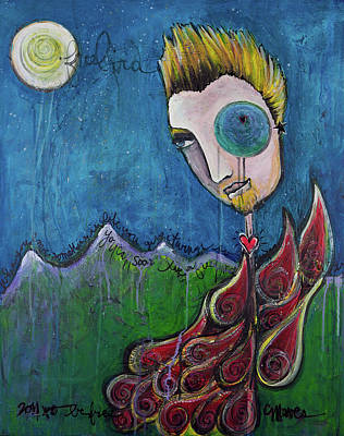 Chris Andersen Painting - Love For Birdman by Laurie Maves ART