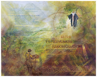 Love Forgiveness Reconciliation Print by Judy Dodds
