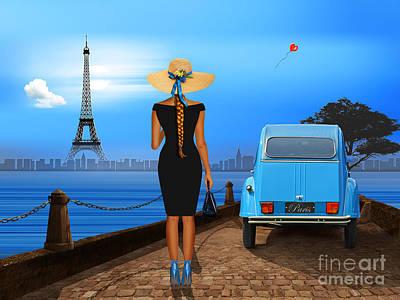 Love In Paris Print by Monika Juengling