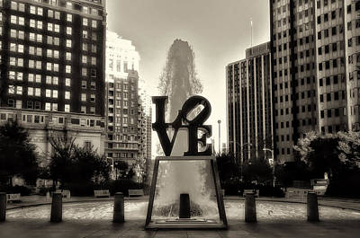Love In Sepia Print by Bill Cannon