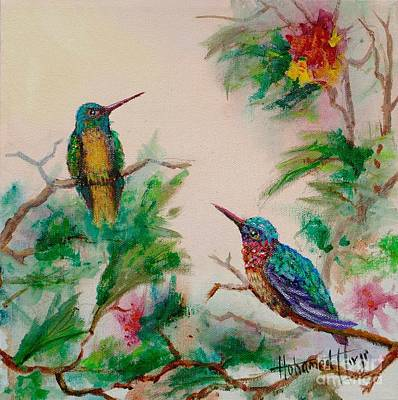 Iridescent Painting - Love Is In The Air by Mohamed Hirji
