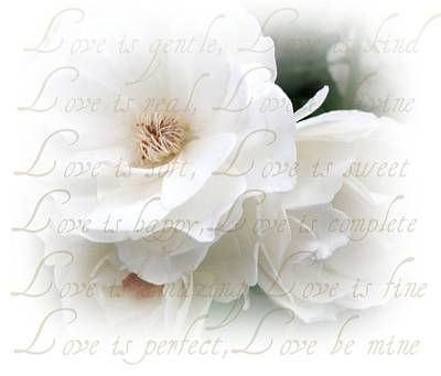 Love Is Print by Kathy Bucari