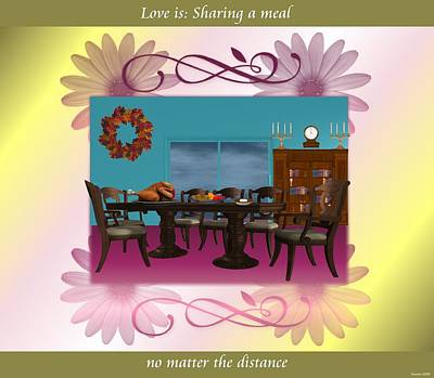 Love Is  Sharing A Meal Print by Morning Dew