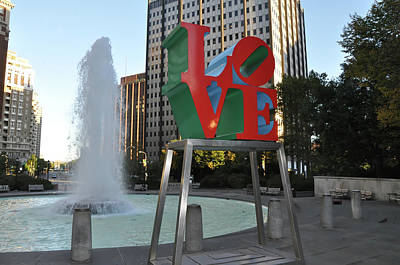 Love Park Digital Art - Love Is The Word by Bill Cannon