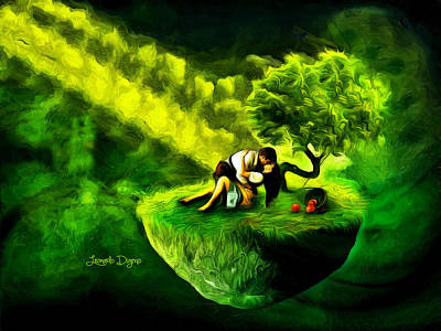 Greenery Painting - Love Island by Leonardo Digenio
