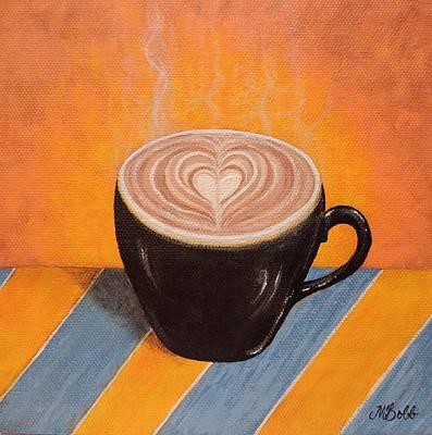 Brunch Painting - Love It Hot by Margaret Bobb