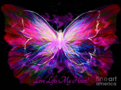 Butterfly Painting - Love Lifts My Heart by Pam Herrick