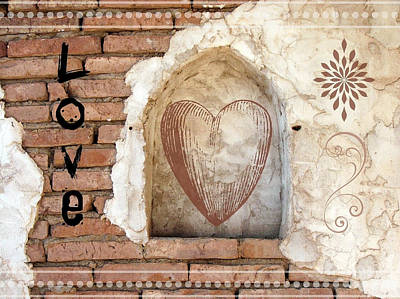 Collectible Mixed Media - Love by Lisa S Baker