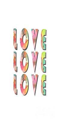 Love Love Love Phone Case Print by Edward Fielding
