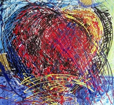 Marcelle Hamelin Mixed Media - Love by Marcelle Hamelin