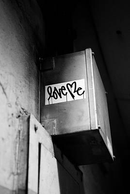 Love Me Print by Dean Harte