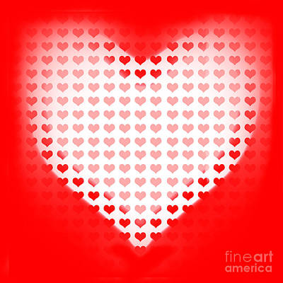 Love Of Valentines Background. Big Red Heart Print by Jorgo Photography - Wall Art Gallery