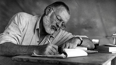 Love Of Writing - Ernest Hemingway Print by Daniel Hagerman