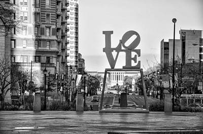 Black And White Photograph - Love On The Parkway In Black And White by Bill Cannon