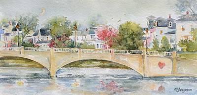 Asbury Park Painting - Love Over Asbury by MG Ferguson
