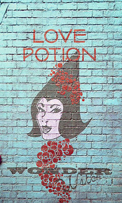 Directional Signage Photograph - Love Potion by Laurie Perry