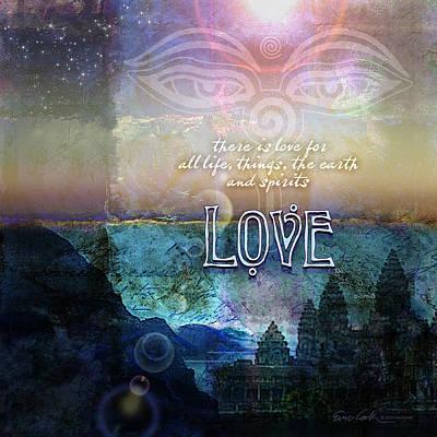 Love Spiritual Print by Evie Cook