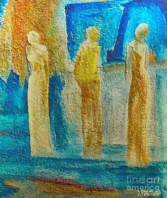 Figurative Mixed Media - Love Triangle by Dragica  Micki Fortuna