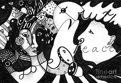 Love Truth Peace Print by Helena Tiainen