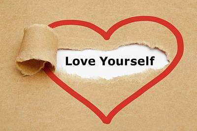 Love Yourself  Print by Hans Wolfgang Muller Leg