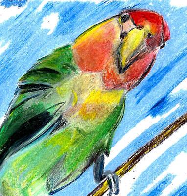 Lovebird Original by Elizabeth Briggs