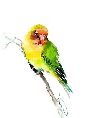 Lovebird Painting - Lovebird by Suren Nersisyan