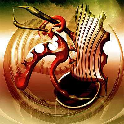 Lovebird Digital Art - Lovebirds by Andy Young