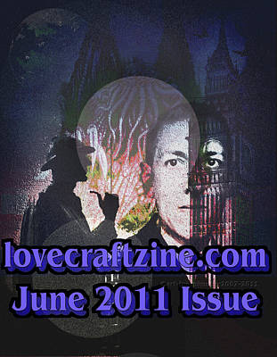 Cthulhu Digital Art - Lovecraftzine Coverpage June by Mimulux patricia no